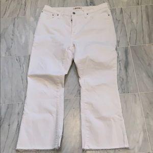 Madewell Cali Denim Boot White 32